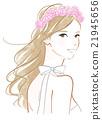 장미 꽃 장식의 여성 21945656