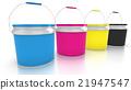 Four CMYK paint buckets 21947547