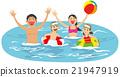 海水浴 暑假 家庭 21947919