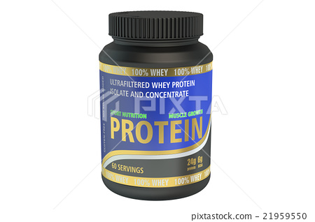 Protein jar, 3D rendering 21959550