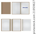 Set of Blank Realistic Spiral Notepad Notebook 21959627