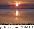 Evening scenery of Lake Saroma 21961410