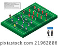 football team formation model with grass field  21962886