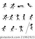 set of athletics icons 21962923