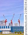 crane, cranes, construction sites 21963341