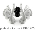 Black knight chess among white knight chess 21966525