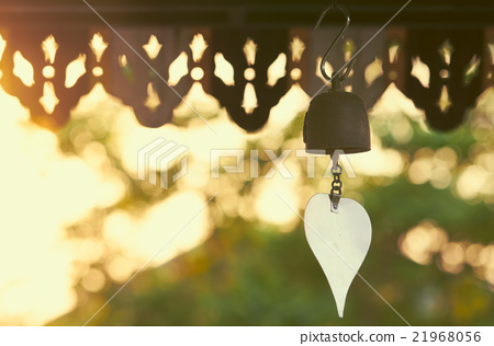 Thai bell at evening with silhouette style 21968056
