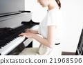 피아노 연주 여자 21968596