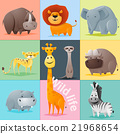 Set of Wild animals 21968654