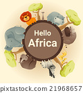 Wild African animal background 21968657