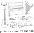 Musical instruments set 21968888