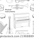Musical instruments pattern 21968889