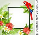 Summer floral frame 21969092