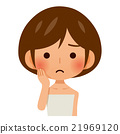 피부로 고민하는 여성 21969120