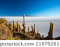 Uyuni Salt Flat on the Bolivian Andes at sunrise 21970261