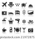 Hotel icons set. 21972875