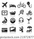 Hotel icons set. 21972877