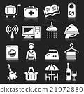 Hotel icons set. 21972880