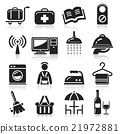 Hotel icons set. 21972881