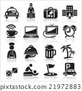 Hotel icons set. 21972883