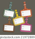 Leather luggage tags labels. Vector illustration 21972889