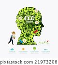Ecology infographic green head shape 21973206