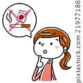 여성, 여자, 담배 21977186