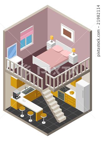 Vector isometric house 21982114