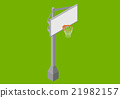 Basketball backboard isometric flat vector 21982157