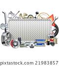 Vector Metal Board with Car Parts 21983857