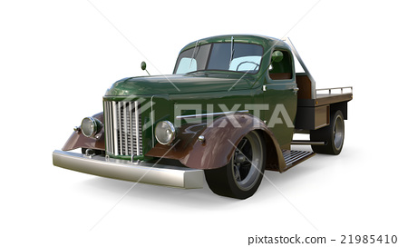 Old restored pickup. Pick-up in the style of hot 21985410