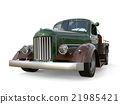 Old restored pickup. Pick-up in the style of hot 21985421