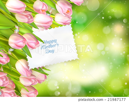 Stock Illustration: Bouquet of tulips. EPS 10
