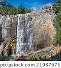 Yosemite falls with double rainbow 21987675