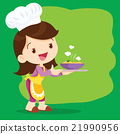 Young girl chefs cooking precent 21990956