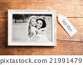 Mothers day composition. Picture frame. Wooden 21991479