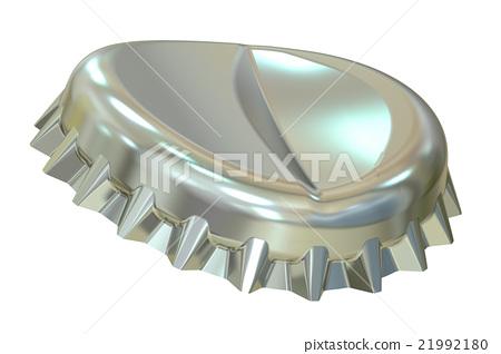 Metal bottle cap, 3D rendering 21992180
