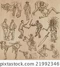 Warriors - an hand drawn vector pack. 21992346