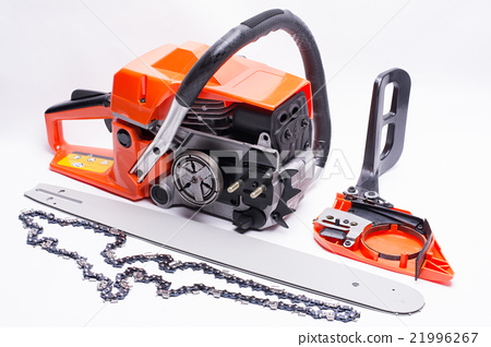 Engine type chain saw before assembly 21996267
