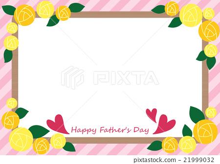 父親節的黃玫瑰框架 21999032