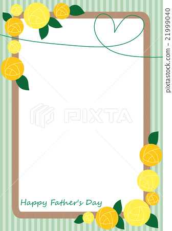 아버지의 날 노란 장미와 하트 프레임 21999040