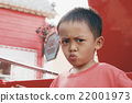 Portrait of Young Asian Boy Wearing Red T-Shirt 22001973