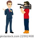 Cameraman And Reporter 22002468