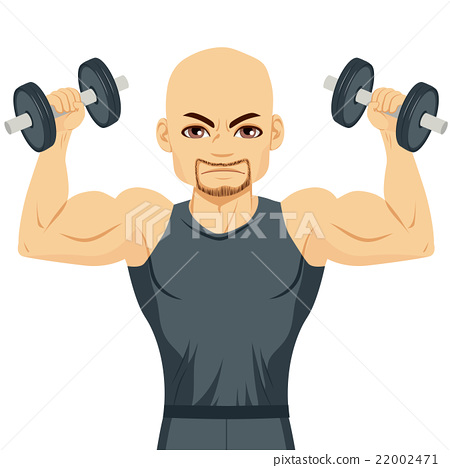 Bodybuilder Man Exercising 22002471