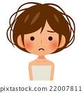 一个毛茸茸的头发的女人 22007811
