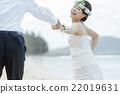 新娘 海灘 笑容 22019631