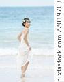 肖像 海滩 新娘 22019703
