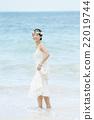 肖像 海灘 新娘 22019744
