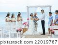 婚禮 集體照 海灘 22019767