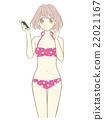 年輕的女孩 青少年 少女 22021167